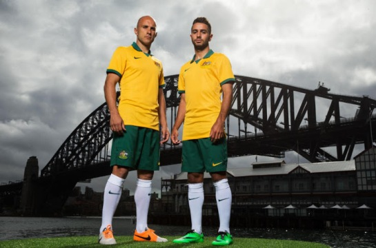 Australia 2014 World Cup Home Kit 2