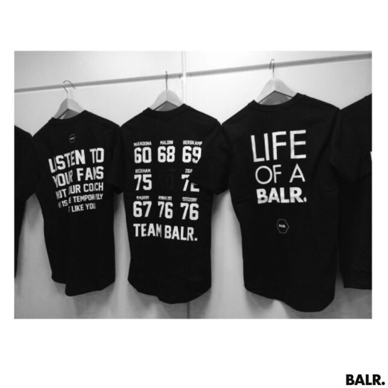 BALR presentation creative football lifestyle blame collection 6 12elfth man