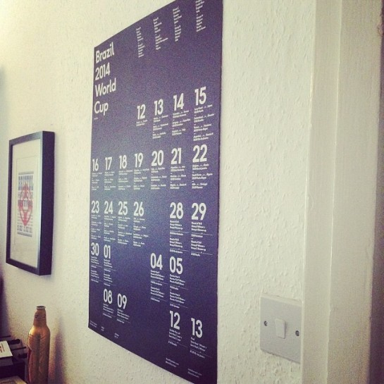 karoshi wall chart up on the wall