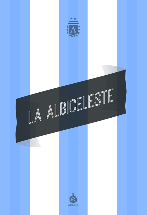 argentina captain world cup poster design 12elfth man