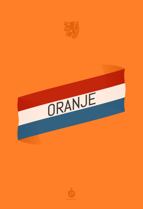 dutch netherlands captain world cup poster design 12elfth man