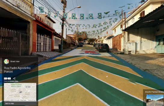 Google - Brazil Painted Streets 1