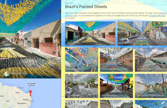Google - Brazil Painted Streets