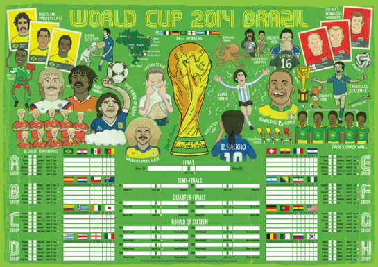 World cup 2014 wall chart elliott quince lr