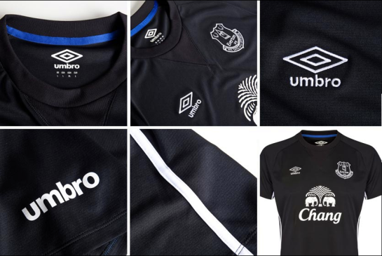 everton umbro away kit black 2014 15 12th man 2