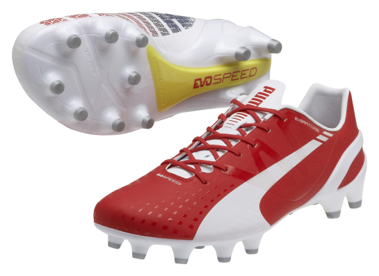 puma evospeed red and white 1