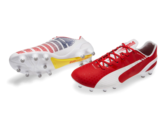 puma evospeed red and white 2