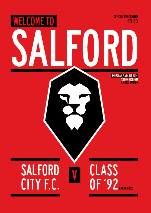 salford city fc class of 92 programme 12elfth man