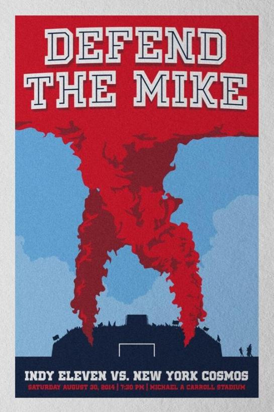 defend the mike 12elfth man design poster