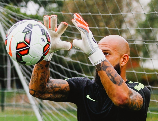 Tim Howard Football Meets Football - Nike.