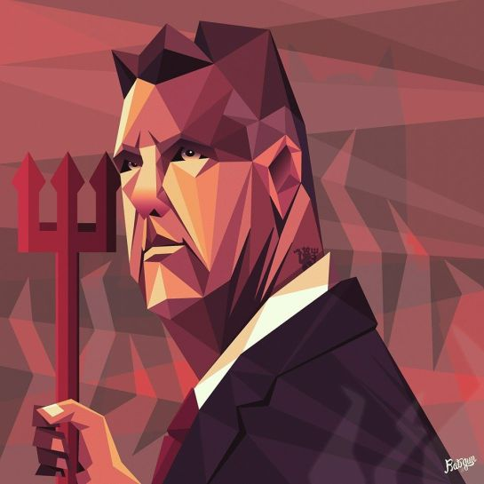 robin gundersen illustration football van gaal