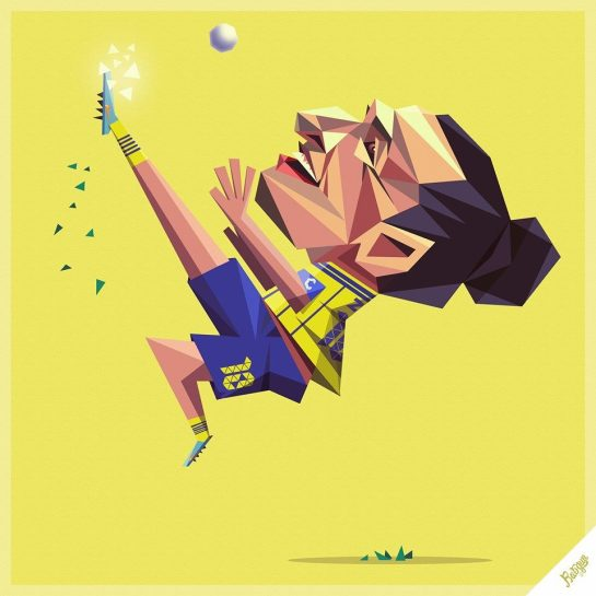robin gundersen illustration football zlatan
