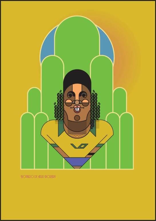 Ronaldinho_by_Marcus_Marritt_framed football design 2