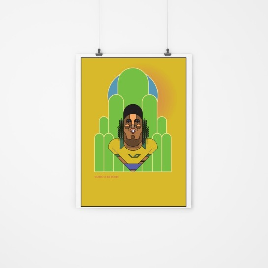 Ronaldinho_by_Marcus_Marritt_framed football design