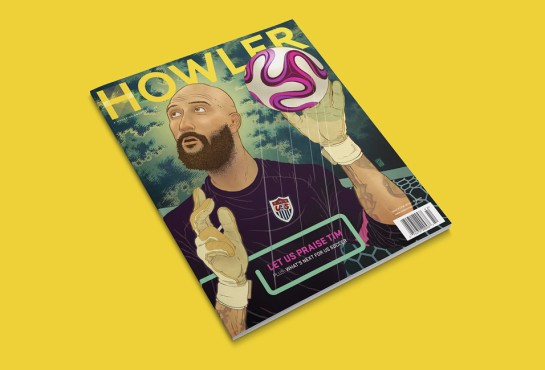 Howler magazine design football cover