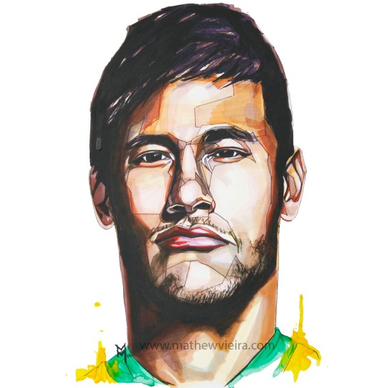 Neymar Jr by Mathew Vieira w