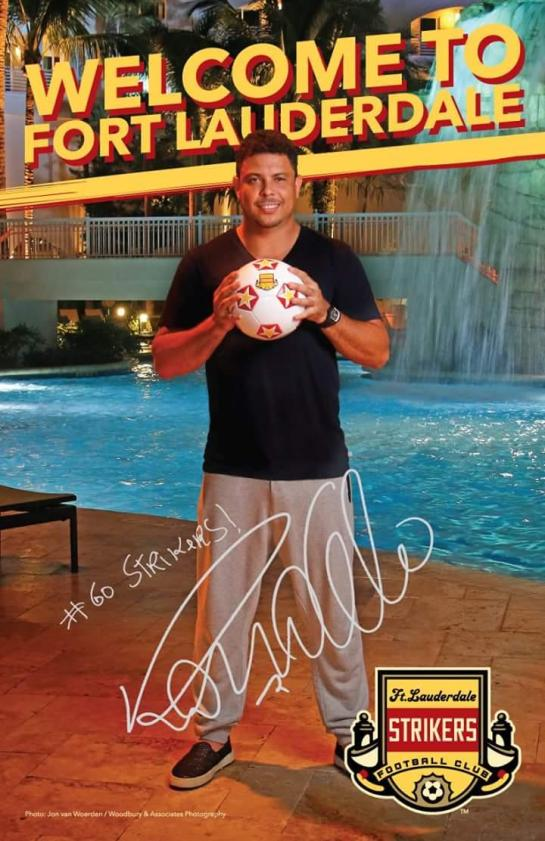 fort lauderdale strikers ronaldo poster