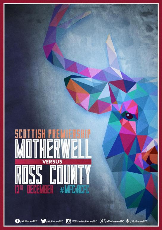 motherwell matchday poster 1