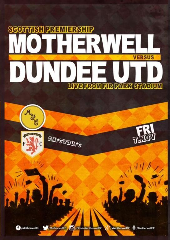 motherwell matchday poster 4