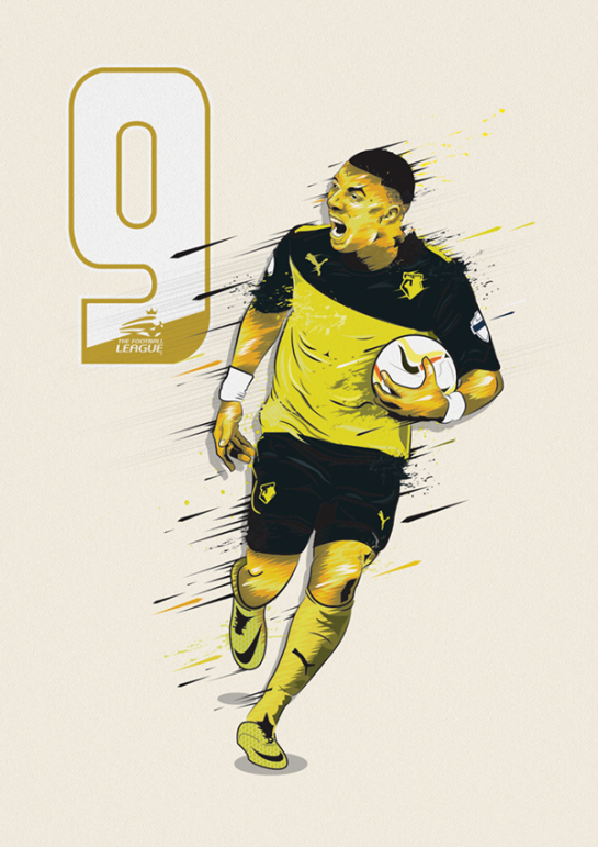 simon walsh illustration watford deeney 1