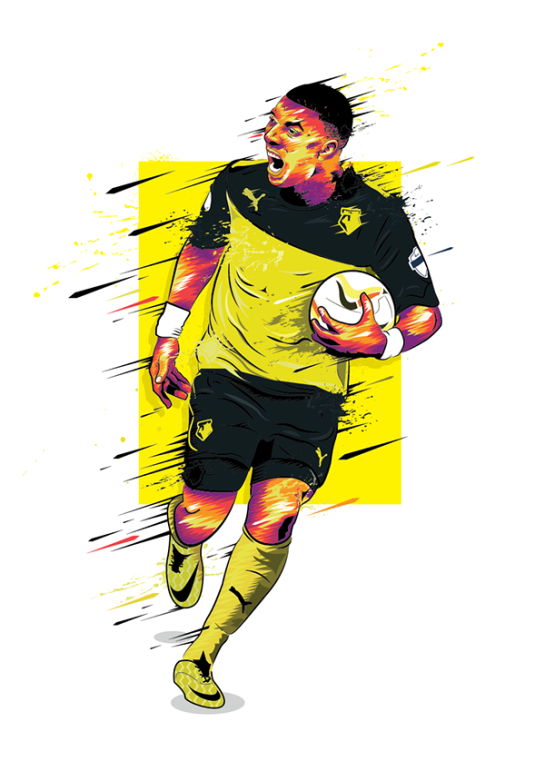 simon walsh illustration watford deeney 2