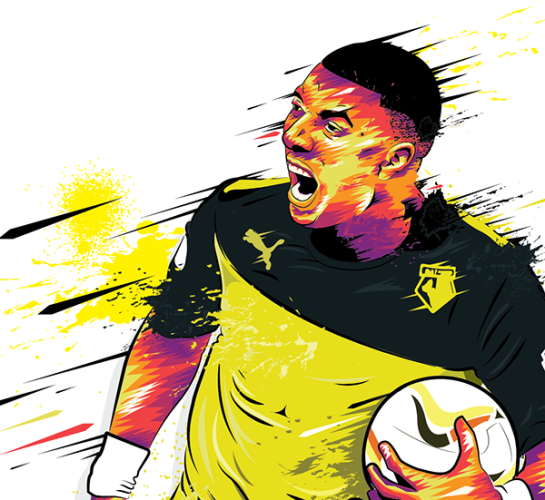 simon walsh illustration watford deeney 3