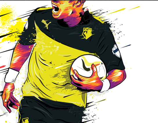 simon walsh illustration watford deeney 4