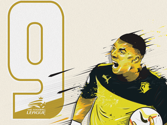 simon walsh illustration watford deeney 5