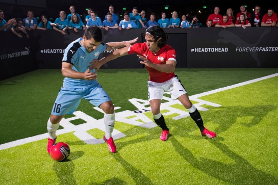 Aguero and Falcao - Head To Head for PUMA in Manchester 27/1/15